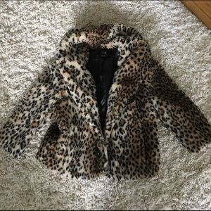 Faux Leopard Coat